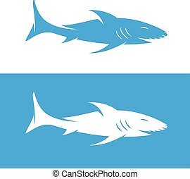 vector design template of  the abstract shark