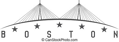 The Leonard P. Zakim Bunker Hill Memorial Bridge, Boston...