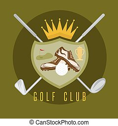 royal golf club coat of arms vector design template