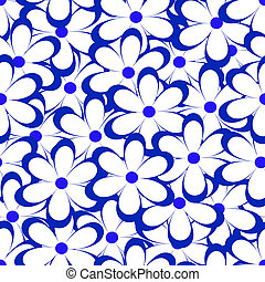 Seamless pattern. Vector illustration with flowers. Vintage...