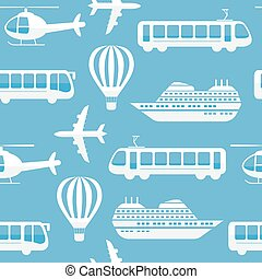 Seamless vector pattern background transport