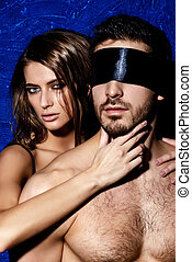 dominatrix - Sexual passionate couple play in love games....