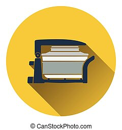 Electric convection oven icon. Flat design. Vector...