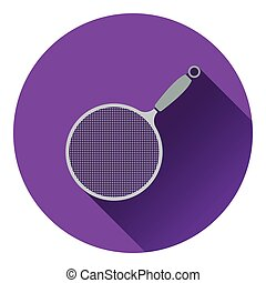Kitchen colander icon Flat design Vector illustration