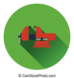 Icon of vise. Flat design. Vector illustration.