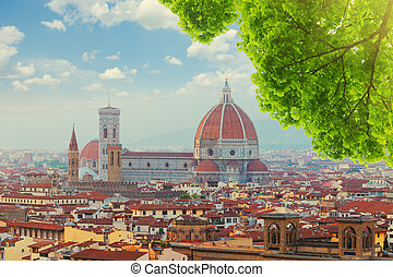 cathedral Santa Maria del Fiore, Florence, Italy - cityline...