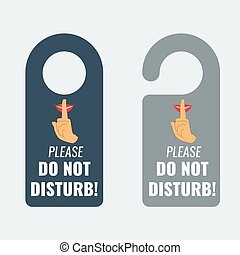 Do not disturb. Door hanger. Keep quiet sign. Vector - Do...