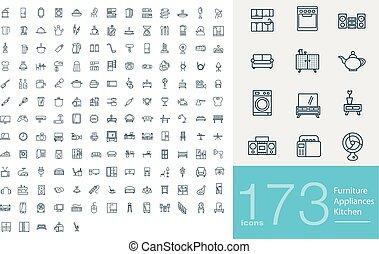 173 line icons