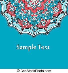 Ethnic Colorful Henna Mandala design - Ethnic Colorful Henna...