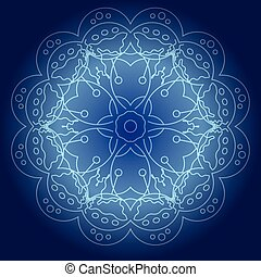 Abstract glowing mandala vector illustration