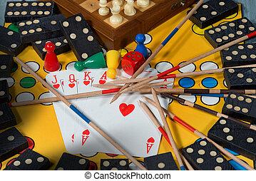 tabla, juegos, concepto,