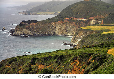 Big Sur Bridge - Bridge along highway one Big Sur California