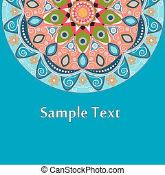 Ethnic Colorful Henna Mandala design, very elaborate and...