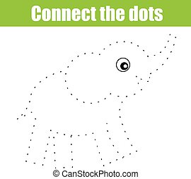 Connect the dots educational children game - Connect the...