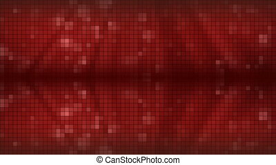 Red Mosaic Background.