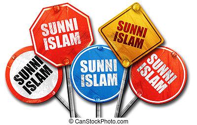 islam, Kollektion, underteckna, gata, framförande, Grov,...
