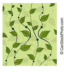 pattern of vines green peas