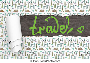 Travel concept ripped wallpaper - Travel concept with ripped...
