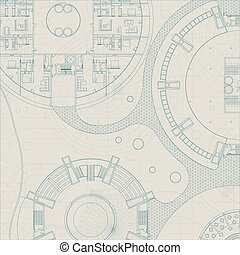 Vector architectural blueprint.