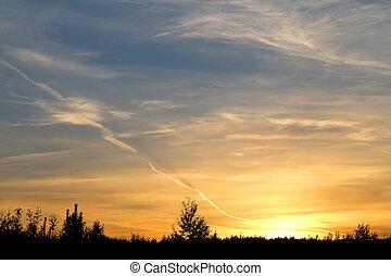 Photos beautiful sunset
