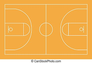 Basketball field, court, yard, FIBA, infographics,...