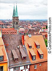 Altstadt in Nuremberg - Old Town (Altstadt) of Nuremberg,...