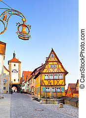 Rothenburg ob der Tauber - Street in Rothenburg ob der...