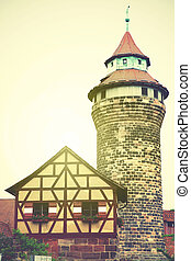 Tower in Nuremberg Castle - Sinnwell tower in Nuremberg...