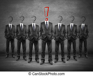 Leadership concept exclamation mark - Leadership concept...