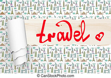 Travel concept wallpaper - Travel concept with ripped...