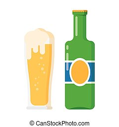 bottle and glass of beer