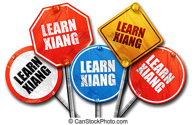 learn xiang, 3D rendering, rough street sign collection