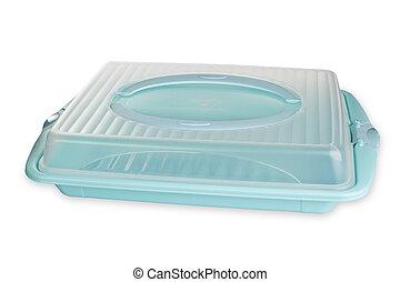 plástico, alimento, contenedor,