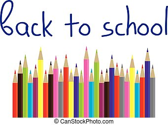 pencils - vector back to school pencils