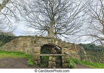 The historical Rosslyn Castle at Edinburgh, Scotland
