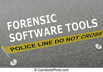 Forensic Software Tools police concept - Render illustration...
