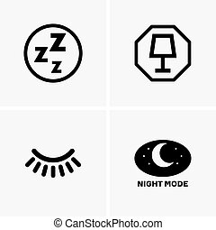 Night mode signs