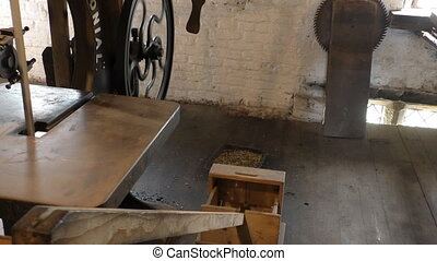 Inside old sawmill - At the old saw mill some vintage...