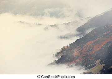 Clouds around Red Peaks, Tatra Mountains, Poland
