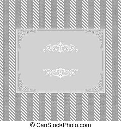 vintage frame on seamless tweed pattern