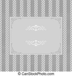 vintage frame on seamless tweed pattern