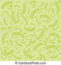 Green Elegance floral pattern.