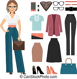 Business woman clothing