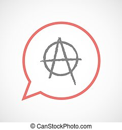 Isolated comic balloon with an anarchy sign - Illustration...