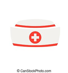 Vector Nurse hat icon with on white background