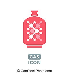 Vector Gas icon - Vector Liquid Propane Gas icon...