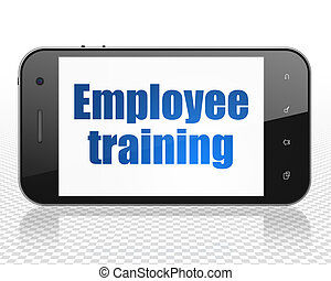 Learning concept: Smartphone with Employee Training on display