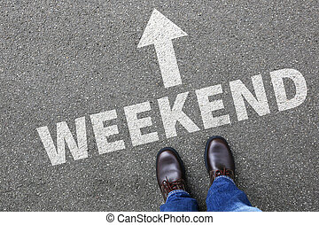 Weekend relax relaxed break people business concept free...