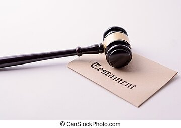 Judge's gavel - the symbol of law on testament
