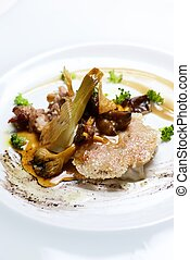 Lamb tapa - Lamb with grilled with vegetables.